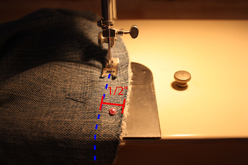 Step 9: Sew Half Inch Seam Allowance