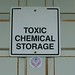 Toxic Chemical Storage sign