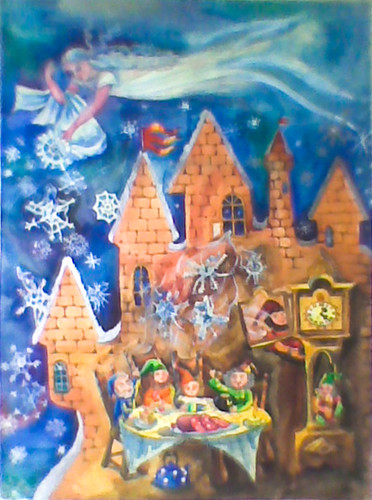 Winter Fairytale, 2001 Watercolor on paper