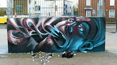 Heat Rucka (The Colored Effects Crew) Tags: art face wall effects graffiti character colored spraycan cfs fatheat