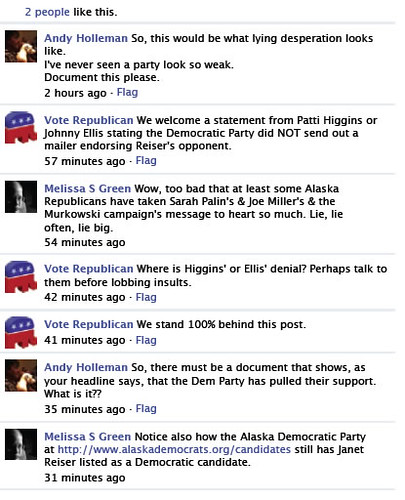 Dirty tricks by the Republican Party of Alaska