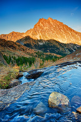 Mount Stuart, Ingalls Pass (mj.foto) Tags: autumn sunset fall landscape washington pineneedles cascades pacificnorthwest 24mm larch hdr hdri mountstuart ingallspass leefilters d700 lakeingalls markjosue