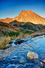 Mount Stuart, Ingalls Pass (mj.foto) Tags: autumn sunset fall landscape washington pineneedles cascades pacificnorthwest 24mm larch hdr hdri mountstuart ingallspass leefilters d700 lakeingalls markjosue