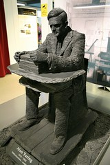 Alan Turing over an Enigma machine (gelle.dk) Tags: uk alan museum enigma ww2 alanturing turing bletchleypark bletchley outoflondon