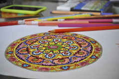 Mandala. (Vitria R.) Tags: color colors pencil pencils colorful mandala zen colorido colorindo colorir