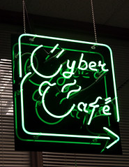 Cyber Cafe Sign (Dr. Starr, geeky artist librarian) Tags: coffee sign library signage cybercafe unt 2007 willislibrary 365libs untlibraries foruntlwebsite