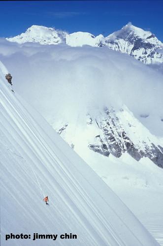 Stephen Koch rides good snow on Mount Everest
