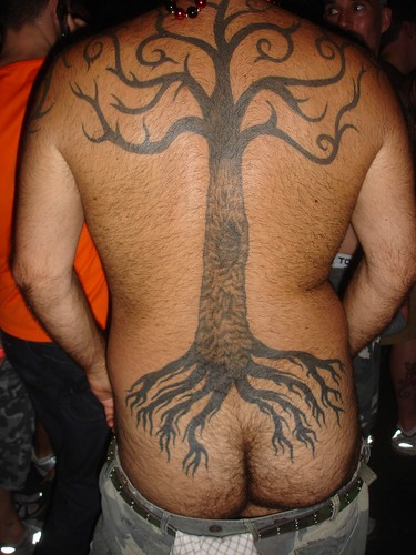 tree tatoo with roots