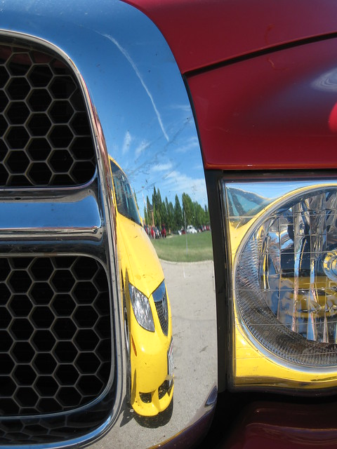 auto red cars car yellow truck reflections automotive headlights grill bil carro dodge ram mazda6