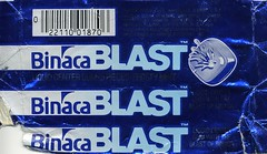 Frosty Mint Binaca Blast gum wrapper