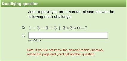 Captcha matemático (II)