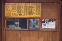 Menu at Mama's Coal Pot