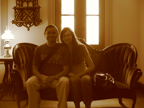 Sepia Couple in Sitting Room
