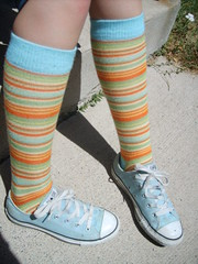 chucks (Polka Dot Princess) Tags: blue light socks taylor chuck knee allstar chucks stripy