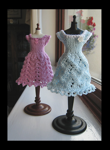 Two Knitted dresses by knit_purr.