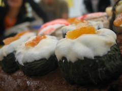 dark chocolate maki rolls