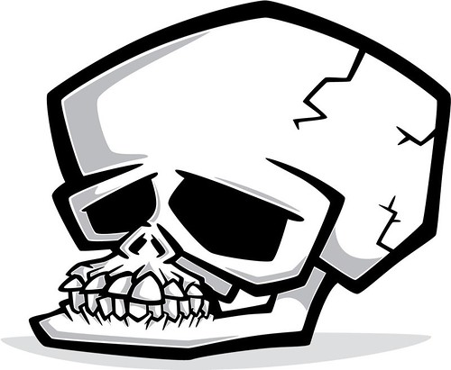 human skeleton cartoon. Cartoon skull