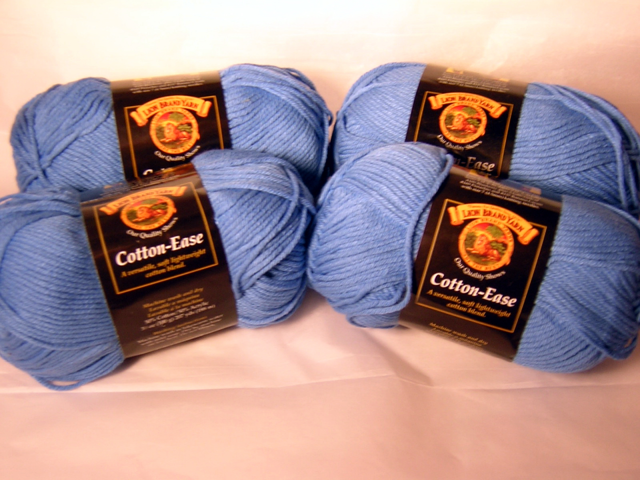 Candy Blue Cotton Ease x 4