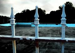 vacant pool (LstCaress) Tags: blue abandoned water pool swimming swim rust empty creepy vacant gloom darkwater stagnant darkstroke