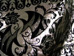 Sjal i svart & silver.