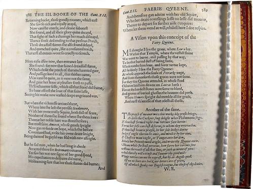 Final stanzas of Book Three, 1596 edition.