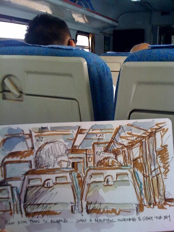Train ride to Kluang, Malaysia
