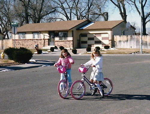 on bikes Christmas day 1986