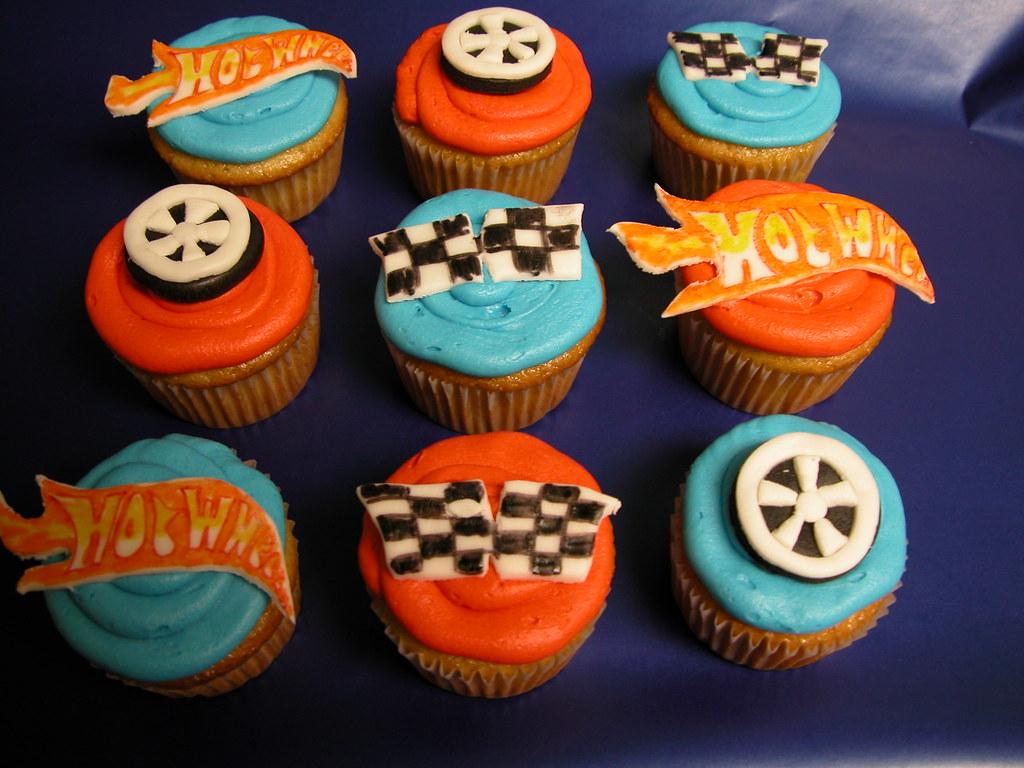 Hot Wheel Cupcakes