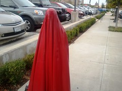 In the Parking Lot (latexladyll) Tags: public fetish shopping rubber latex burqa