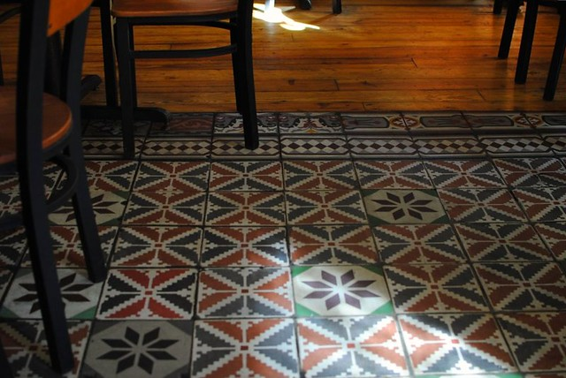 sun-streaked tile floors on a warm afternoon in november