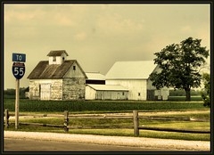 To 55 (K2D2vaca) Tags: sign barn landscape illinois farm country towanda centralillinois welcomeall supershot interstate55 farmscape superhearts k2d2vaca
