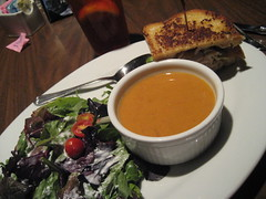 mmm... (_melika_) Tags: lunch soup salad sandwich fathersday westhollywood hamlet hamburgerhamlet