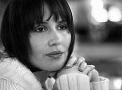 Carina Ina Janine (Stefan Keller) Tags: portrait bw sw frau vertrumt blende14