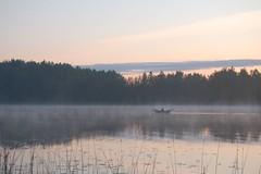 Midsummer I (St Ivar) Tags: summer lake nature water fog night suomi finland landscape boat midsummer rowboat båt sysmä robåt summernight