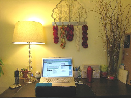 Aesthetically decorated workspace