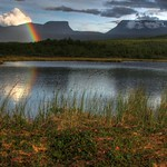 Rainbow over Lapporten, Garnished with Cloudberries