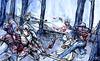 Los bosques de Therion (Jugo de Naranjo) Tags: night ink watercolor noche fight woods drawing zombie medieval fantasy bosque sword acuarela dibujo tinta espada
