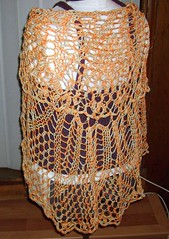 Chrysanthemum Tea Shawl - Back