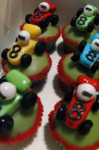 Racing Cars Cupcakes
