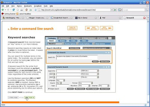 OCLC Screen Capture Example