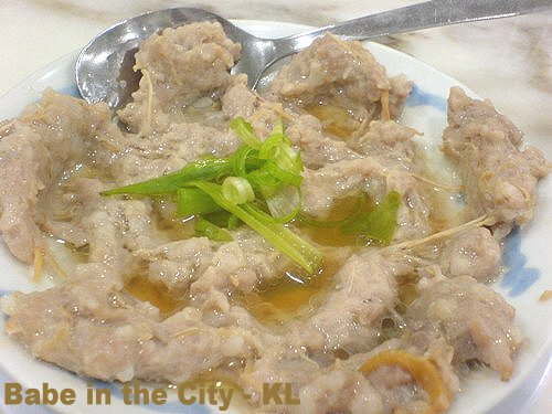 MH - steamed minced pork with yau yue