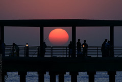 huge Sunset (A.alFoudry) Tags: bridge sunset fish man men canon eos fishermen purple dusk fisher huge kuwait usm kuwaiti q8 30d abdullah fishhook  kuw canonef100400mmf4556lisusm canoneos30d  xnuzha alfoudry  abdullahalfoudry impressedbeauty foudryphotocom kuwaitvoluntaryworkcenter