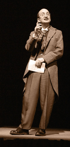 Dr. Len Radin in costume for Our Town by Thornton Wilder