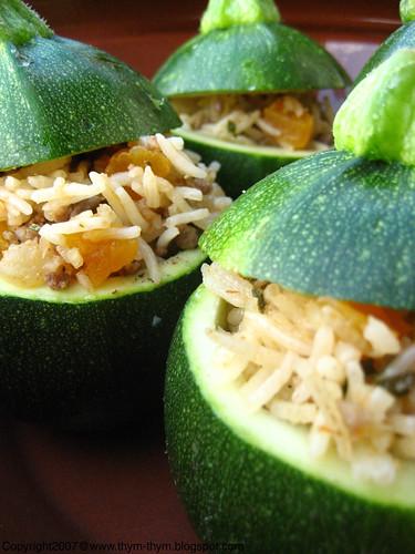 Stuffed Globe Zucchinis