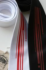 strangle1 (Cyberoptix) Tags: new red white black digital neck blood screenprint handmade tie strangle pixel silkscreen murder strangled necktie productshot cyberoptix toybreaker handscreened tielab fallwinter07