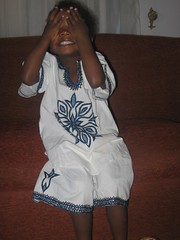 Giggle in his Ethiopian outfit