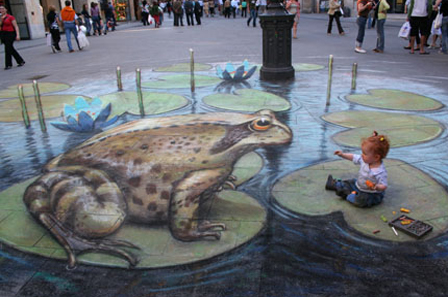 chalk artist whose work