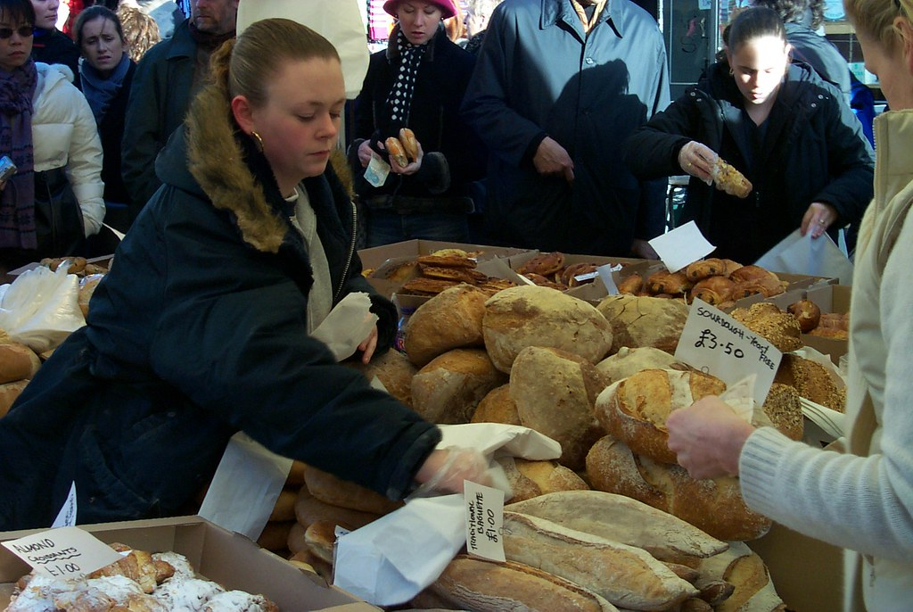 Fresh bread at a Portobello Market, London