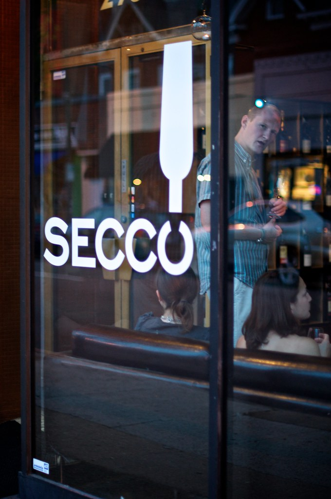 secco wine bar front window