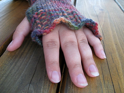 Alice mitts in Jacob colors